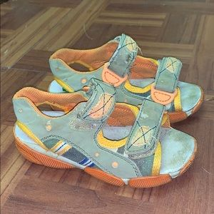 Naturino kids unisex Velcro sneaker sandals 25